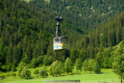 yellow cable car cabin picture wendelstein bavaria germany
