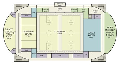 fitness center floor plan sports fitness recreation center design study on behance