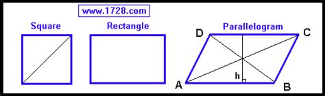 rectangle square parallelogram square rhombus and rectangle calculator