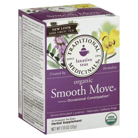 Tea Laxative Detox by Traditional Medicinals Laxative Tea Smooth Move Organic