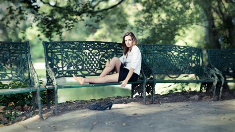 sitting park bench girl sitting on a park bench forged wallpapers and images wallpapers pictures photos