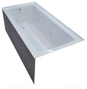pontormo 30 x 60 front skirted whirlpool drop in bathtub