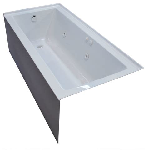 60 x 30 whirlpool bathtub pontormo 30 x 60 front skirted whirlpool drop in bathtub