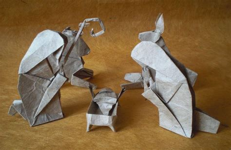 How To Make An Origami Nativity - belen origami paso paso buscar con nativity