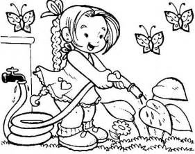 spring coloring pages kids coloring town