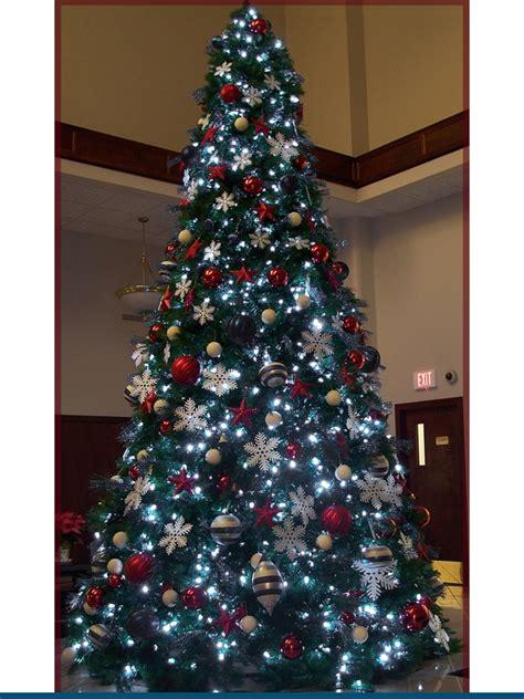 12 foot white christmas 2000 lights 14 foot trees prelit m5 led bulbs