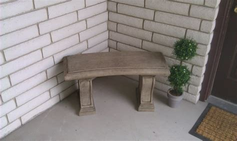 concrete benches home depot garden bench the home depot community polished and neat diy garden bench in two tones