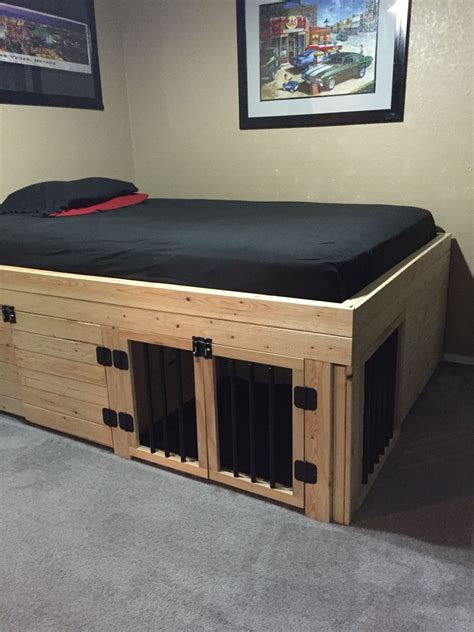 dog crate beds bed with built in dog crate house and home pinterest