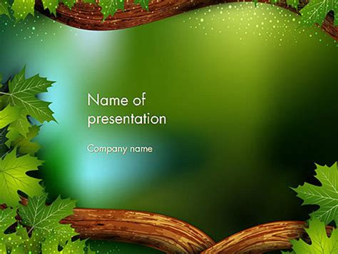 forest frame powerpoint templates and backgrounds for your