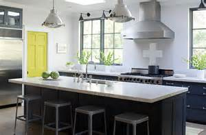 Accent Color For White And Gray Kitchen by Stephmodo Gorgeous Gray Kitchen With Yellow Accents