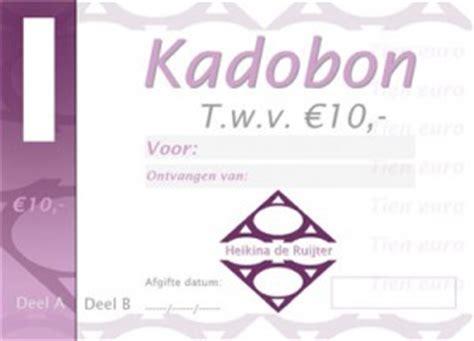 voorbeeld kadobon kadobon tegoedbon maken