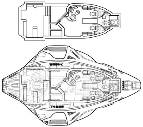 starship floor plans delta flyer schematic technical drawings wars trek