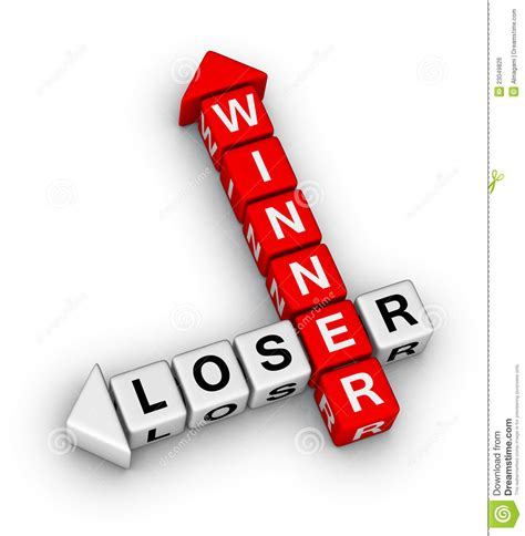 Loser To Winner by Winner And Loser Royalty Free Stock Image Image 23049826