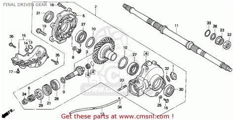 honda fourtrax 300 parts diagram honda trx300 fourtrax 300 1995 usa driven gear
