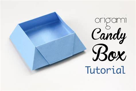 Origami Chocolate Box - origami box tutorial