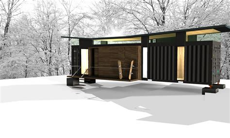 Affordable Housing Nj by Shipping Container Mountain Cabin Alexander Papadias