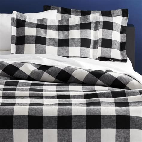 buffalo plaid comforter buffalo plaid linen bedding cb2