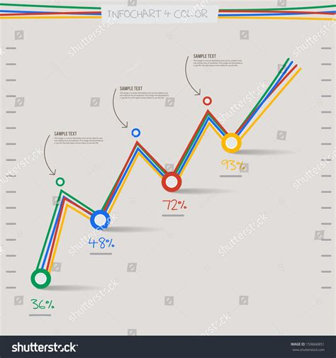 graph layout vector infographic arrow diagram graph chart 4 stock vector
