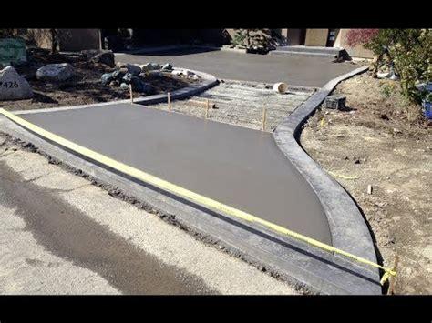 concrete driveway pouring process march 2014