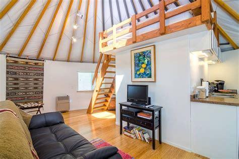 airbnb yurt malibu farm yurt on airbnb popsugar smart living