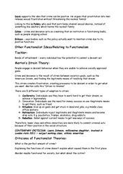 aqa sociology crime  deviance revision guide