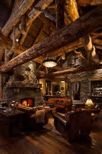 log home interior log cabin grid world