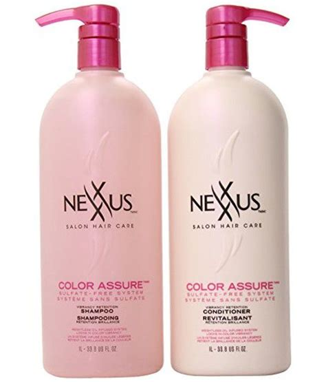 nexxus color assure reviews nexxus colour assure shoo and conditioner combo pack 33
