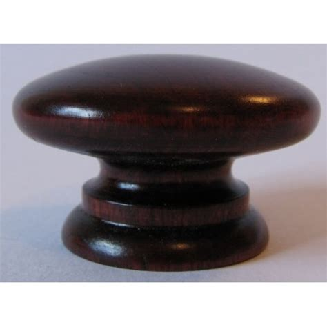 Mahogany Knobs by Knob Style A 48mm Cherry Mahogany Stain Wooden Knob
