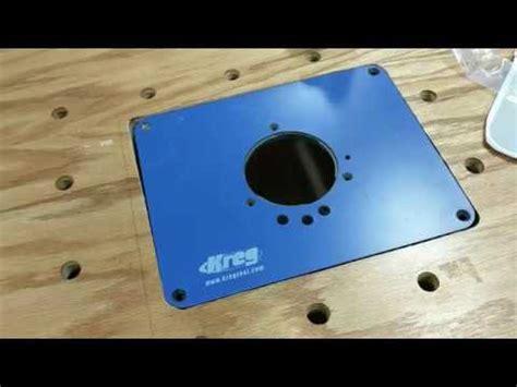 kreg router plate installation  insert plate levelers