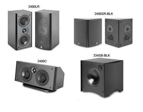 home theater system  atlantic technology speakers
