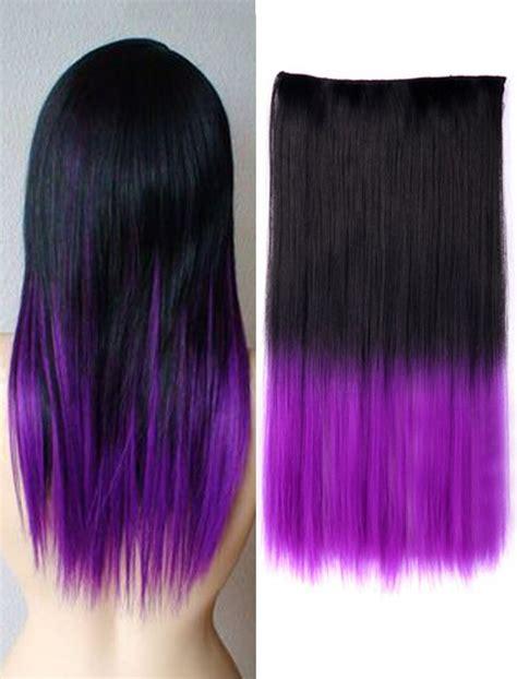 hair extensions purple black hair with purple extensions www imgkid the