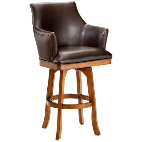 comfortable leather counter stools furniture leather swivel bar stool with back and arms