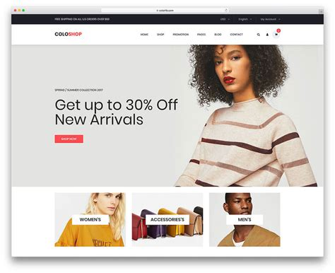 18 best free fashion website templates 2018 colorlib