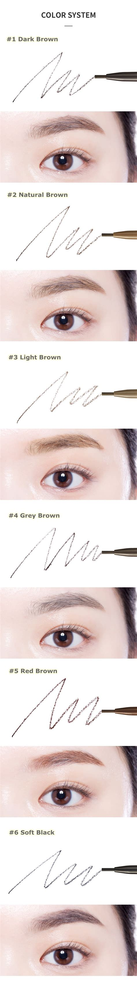 Etude Drawing Eye Brow Brown etude house drawing slim eye brow 1 5mm