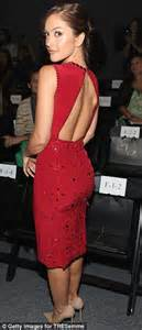 gene wilder red dress minka kelly sizzles in a backless dress at new york