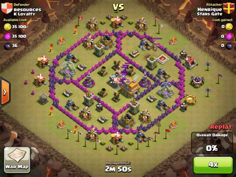 coc layout anti dragon th7 anti dragon war base th 7 in coc