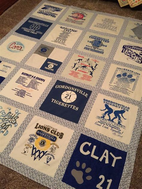 Turning T Shirts Into Quilts by Turn Your Favourite Shirts Into A T Shirt Quilt