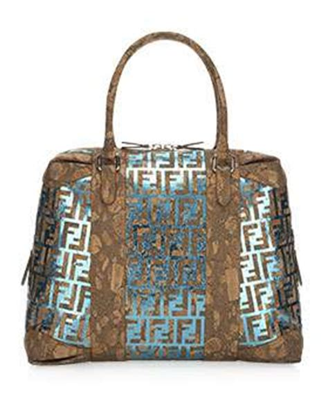 Fendi B Mix Cork Bag eco fendi tote b mix metallic cork bag