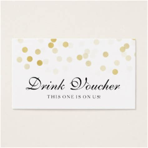 cocktail cards template drink voucher business cards templates zazzle