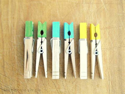 keep home simple clothes pin chip
