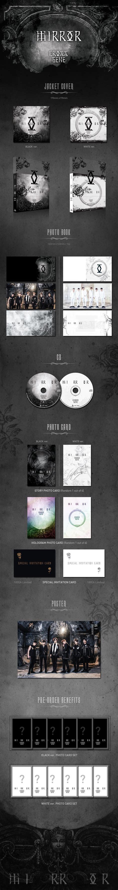 Pre Order Pentagon 4th Mini Album Demo01 크로스진 cross gene mirror 4th mini album white ver unfolded poster choice la
