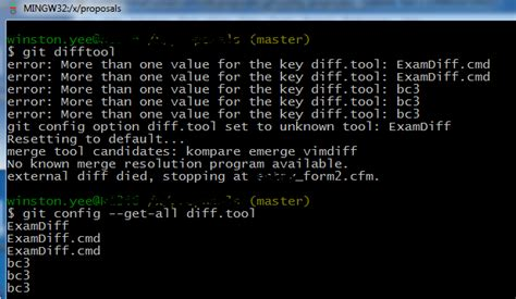 git difftool tutorial git too many diff tool values stack overflow