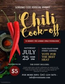 Chili Cook Off Poster Templates Postermywall Chili Cook Flyer Template Free