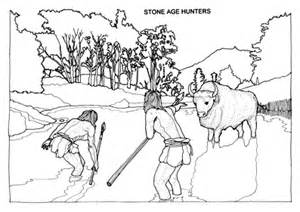 Stone Age Coloring Pages Sketch Page sketch template