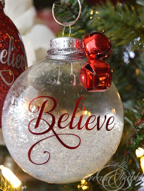 cristmas ball write name diy glitter ornaments create and babble