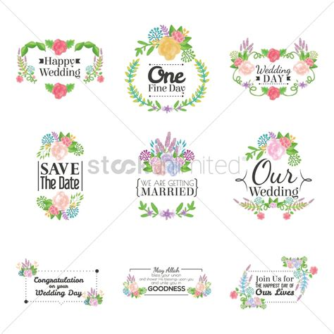 Wedding Card Collection by Wedding Card Collection Vector Image 1789977