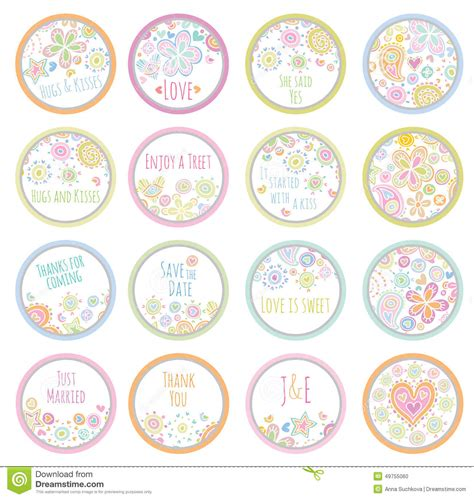Personalisierte Etiketten by Personalized Sticker Labels Stock Vector