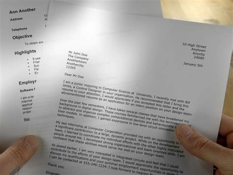 What Is A Cover Letter On A Resume by Cover Letter Sle For A Resume