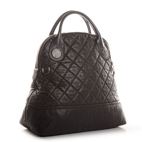 Quilted Travel Bag by Chanel Coated Canvas Quilted Large Garment Travel Bag