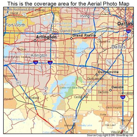 grand prairie texas map aerial photography map of grand prairie tx texas